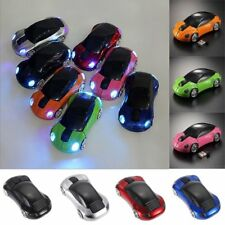 New Car Shape Wireless Cordless Optical Mouse Mice + USB Receiver for PC Laptop