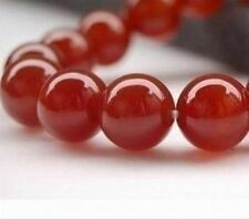 AAA+++ 10mm Natural Red Ruby Gemstone Round Carnelian Beads 15''