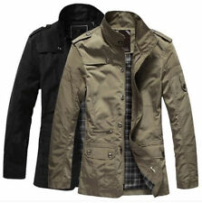 Fashion Mens Long Causal Jackets Zip Slim Fit Coats NEW Men Button Tops Outwears