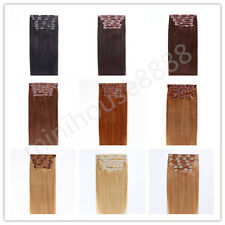 """Full Head 30"""" Indian Remy Human Hair Clip In Extensions 8pcs & 180g, 15 colors"""