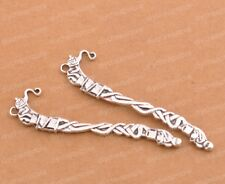 FREE SHIP Wholesale 2pcs Tibetan Silver Tendrils Bookmarks 81X20MM F54