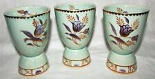 Matched Set 3 Lovely Adams, England, Egg Cups Pale Green w/ Lavender & Gold Trim