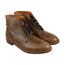 Frye Walter Lace Up Mens Tan Leather Casual Dress Lace Up Boots Shoes