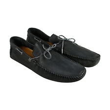 GBX Jeyck Mens Black Leather Casual Dress Slip On Loafers Shoes