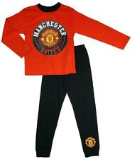 Boys Official Manchester United MUFC Man Utd Football Long Pyjamas 4 to 12 Years