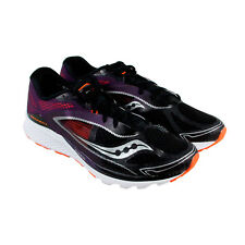 Saucony Kinvara 7 Mens Black Purple Textile & Synthetic Athletic Running Shoes