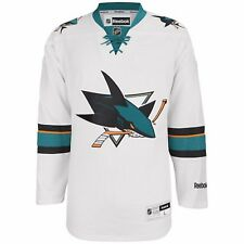 NHL San Jose Sharks Men's Center Ice Premier Hockey Jersey, White MSRP $130