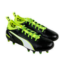 Puma Evotouch 1 Fg Boys Black Synthetic Athletic Lace Up Soccer Shoes