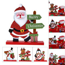 Santa Claus Snowman Christmas Xmas Wooden Decor Living Room Table Ornament Craft