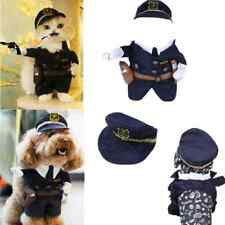 Puppy Dog Cat Clothes Policeman Cosplay Costume Apparel Outfits+Hat+Collar Tie