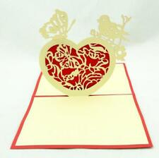 Papercraft 3D Heart Bird Butterfly Valentines Greeting Cards Gift Postcards LC31