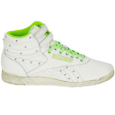 Reebok Women's Sneakers Freestyle Hi Shoes High-Top White Vintage Trainers F/S