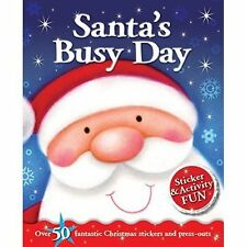 Santa's Busy Day Sticker and Activity Fun Book