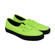 Vans Authentic Mens Green Canvas Lace Up Sneakers Shoes