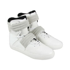 Radii Cylinder Mens White Leather High Top Lace Up Sneakers Shoes