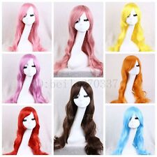 Sex Lady Long Fashion Curly Wave Hair Women Wigs Full Wig Heat Resistant Cosplay