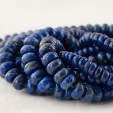 Grade A Natural Lapis Lazuli (blue) Gemstone Rondelle Beads - 6mm 8mm