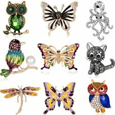 New Beauty Cat Animals Rhinestone Crystal Womens Brooch Pin Jewelry Wedding Gift