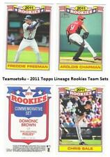2011 Topps Lineage Rookies Baseball Set ** Pick Your Team **