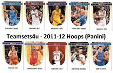 2011-12 Hoops Basketball Set ** Pick Your Team **