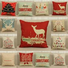 Christmas Printed Sofa Bed Home Decoration Festival Pillow Case Cushion Cover