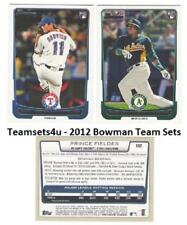 2012 Bowman Baseball Set ** Pick Your Team **