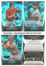 2012 Bowman Platinum Baseball Set ** Pick Your Team **