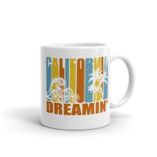 California Dreamin' Vintage Retro Style Sun and Surf Coffee Mug