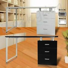 Office Computer Desk Table Home Metal Student Study 3 Drawer Cabinet AUWCW