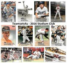 2016 Stadium Club (Topps) Baseball Set ** Pick Your Team **