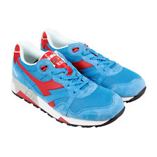 Diadora N9000 Italia Mens Blue Suede&Synthetic Athletic Running Shoes