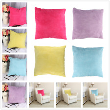 Stripe Corduroy Throw Pillow Case Gift Solid Color Sofa Decorative Cushion Cover