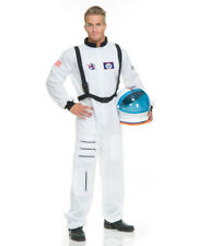 Adult Mens Womens White Astronaut Space Suit Costume