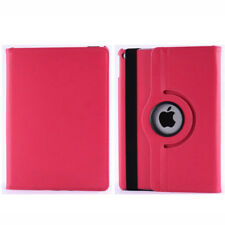 Hot Pink Apple iPad Air 2 Stylish 360 Rotating Leather Stand Case Cover