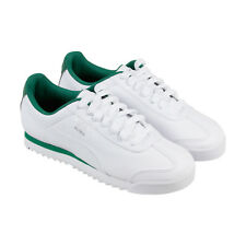 Puma Roma Basic Mens White Synthetic Lace Up Sneakers Shoes