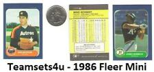1986 Fleer Mini Baseball Set ** Pick Your Team **