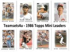 1986 Topps Mini Leaders Baseball Set ** Pick Your Team **