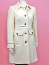 Juicy Couture Angel White Wool Long Top Coat Jacket 4