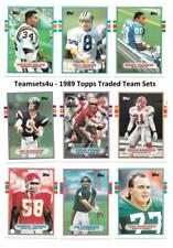 1989 Topps Traded Football Set ** Pick Your Team **