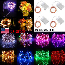 4Pack Home Wedding Party Decor Christmas Battery Copper Wire LED String Light
