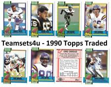 1990 Topps Traded Football Set ** Pick Your Team **