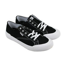 HUF Classic Lo Ess Tx Mens Black Textile Lace Up Sneakers Shoes