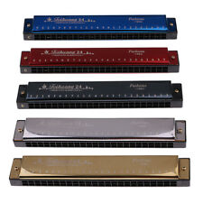 24 Holes C Key Harmonica Mouth Organ Woodwind Musical Instrument Lovers Toy