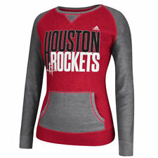 adidas Houston Rockets Women's Red Shrinking Type Pullover Crew Sweatshirt