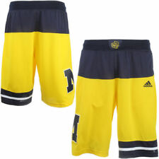 adidas Michigan Wolverines Maize 2015 March Madness Replica Basketball Shorts