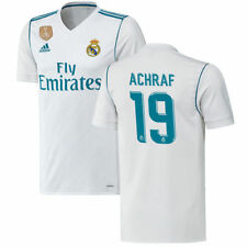 adidas Achraf Hakimi Real Madrid White 2017/18 Home Authentic Patch Jersey