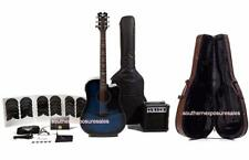Keith Urban Acoustic-Electric Ripcord 44-pc Guitar Pkg Electric Blue + Hard Case