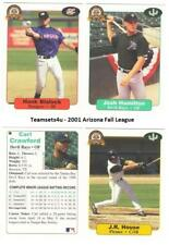 2001 Arizona Fall League Baseball Set ** Pick Your Team **