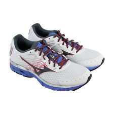 Mizuno Wave Inspire 11 Womens White Mesh Athletic Lace Up Running Shoes
