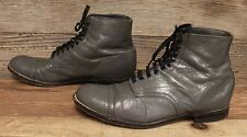 Mens Stacy Adams Vintage Leather Grey Chukka Ankle Boots Sz 7.5 D